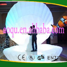 2016 New Giant inflatable LED seashell for wedding / party decoration / stage
