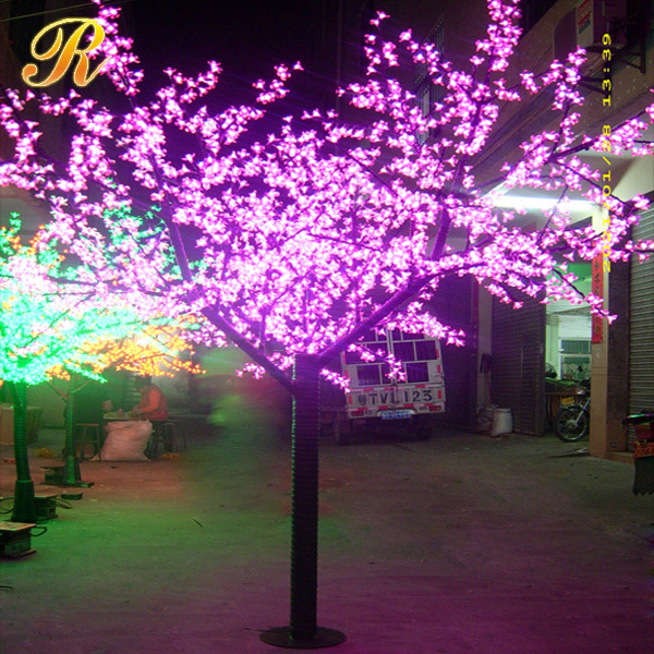 Colorful artificial outdoor led palm tree canada