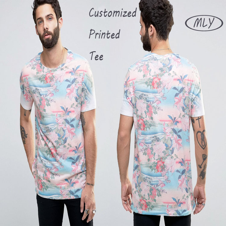 T-Shirt Printing Mens Swim Shorts With Chinese Style Floral Print