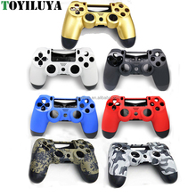 Colorful Camo Matte Housing Shell for Playstation 4 PS4 Controller Front Back Shell Case Black White Gold