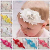 2015 new design crystal crown baby headbands wholesale hair accessories