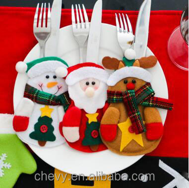 2016 Newest Style Creative Dining Table <strong>Christmas</strong> Knife And Fork Bag For <strong>Christmas</strong>