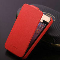 Genuine Litchi Leather case for iPhone 4s 4 Top Flip Litchi Case For iPhone 4 Luxury Phone cover for iPhone 4g