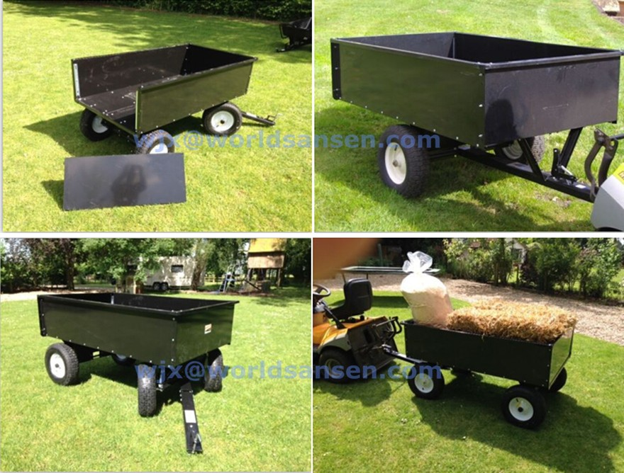 farm tools ATV dump Trailer, Small tractor Utility Cart  tow behind Trailers, lawn garden landscrape machine