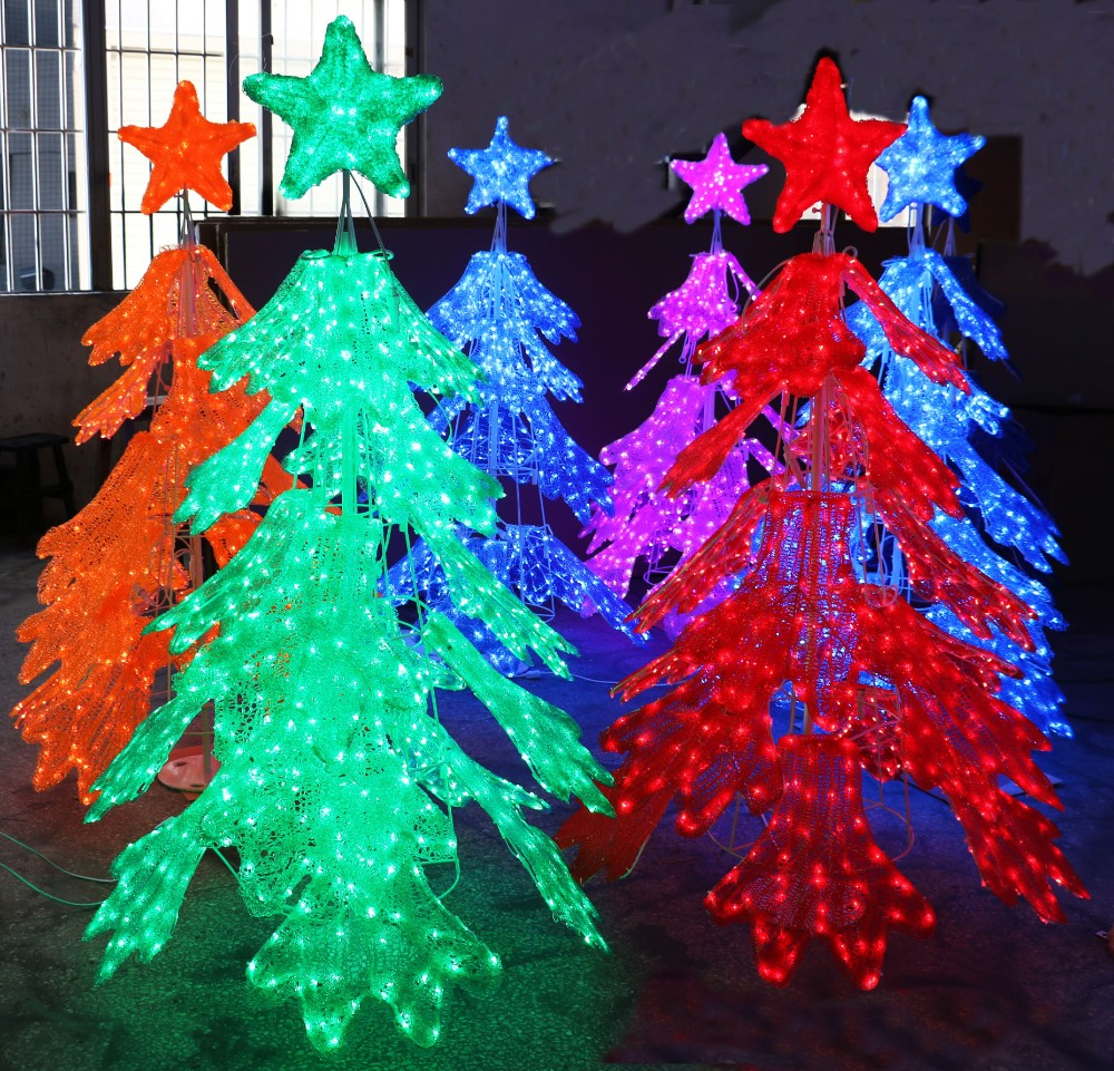 Large acrylic christmas outdoor decoration lighting for Large christmas decorations