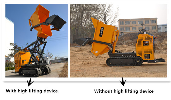 500kg small farm track dumpers equipment