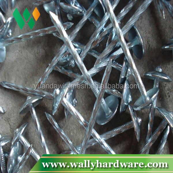 "Hot sale cheap price 3"" bulk twisted shank got dipped roofing nails"