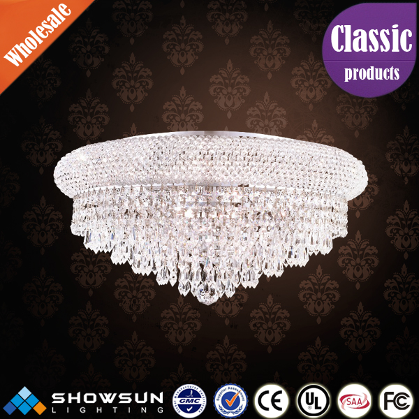 Hot sales simple style crystal decorative ceiling light