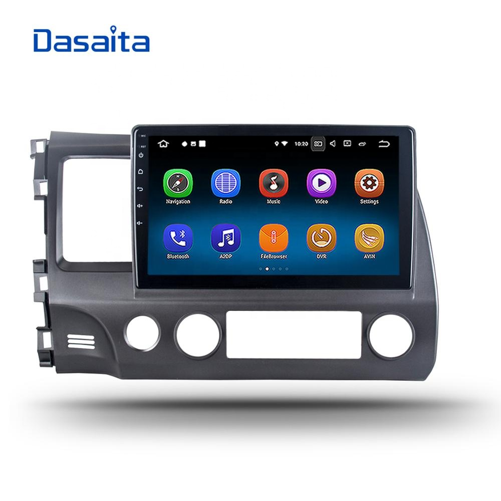 Dasaita Android 8.1 car radio for Honda civic 2009 2010 2011 DVD GPS navigation Player system head unit 10.2 inch 2.5D screen BT