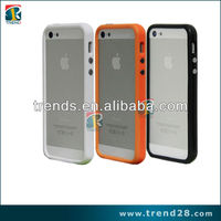 pc+tpu bumper case for iphone5 with chrome buttons