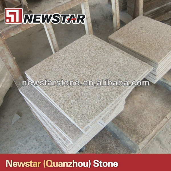 flamed light yellow granite and tile