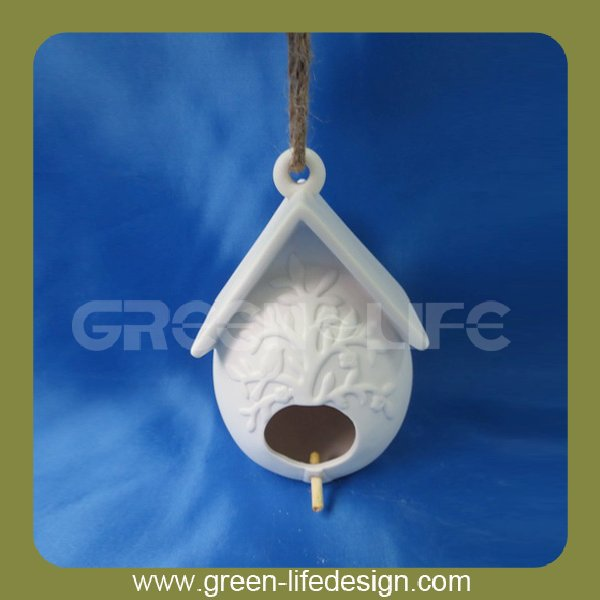 New product ceramic bird house hanging