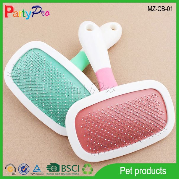 2015 Plastic Handle 360 Degree Rotation Dog Bath Brush Wide Tooth Round Pet Comb