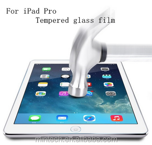 "New Arrival 9H HD LCD Screen Protectors For iPad Pro 12.9"" Tempered Glass Film"