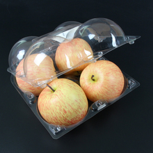 Clear clamshell dispoable food blister plastic container for apple