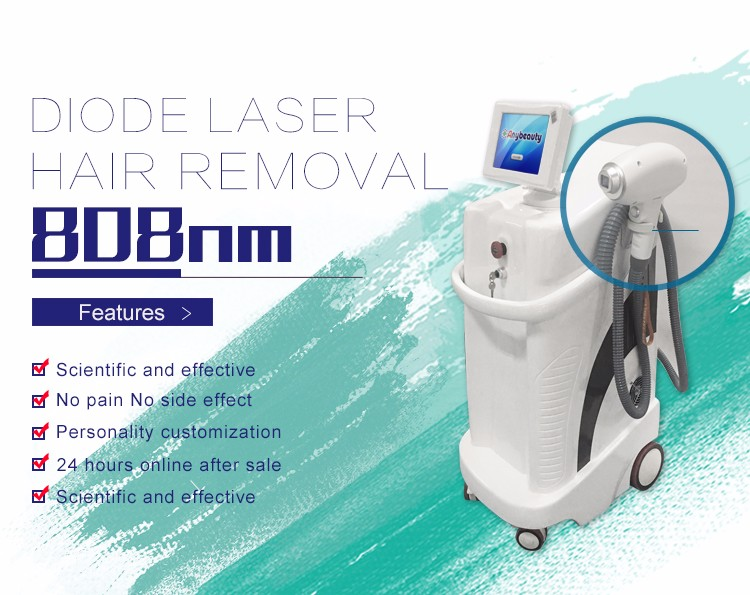 808T-3 hot sale permanent 808nm diode laser hair removal machine with german laser bars
