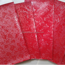 PVC Flower embossed Leather