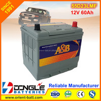 Japan Standard Maintenance Free Calcium 55d23l Ac Delco Car Battery