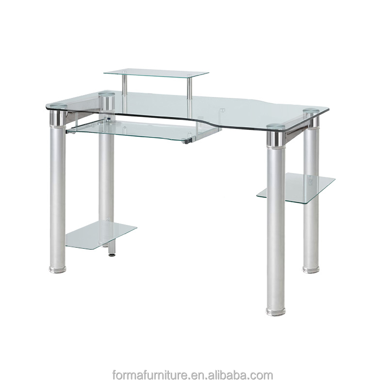 assemble glass home computer table