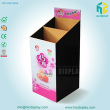 2017 New Design Large Capacity Recyclable Retail Cardboard Dump Bins with Hooks