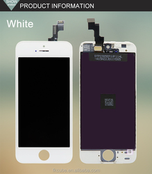 Mobile phone Original replacement for Apple iPhone 5/5S/5C touch LCD screen with digitizer Display White / Black 4""