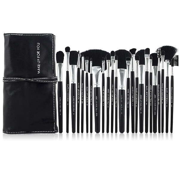 Hot-selling Professional 24pcs Natural Hair Cosmetic Brush Set
