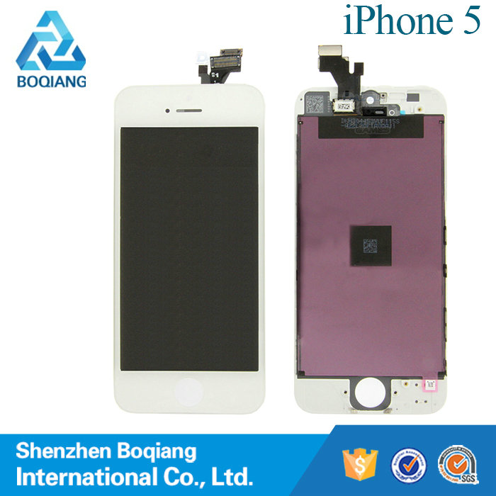 2015 high quality white for iphone 5 lcd screen