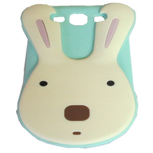 Silicone phone rabbit case green custom phone case packaging for iphone 4S 5S