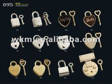 decoration lock and key, heart shape lock