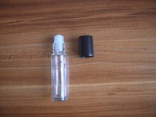 Roll on perfume bottle, 10 ml clear essential oil roll on bottle, small glass roller container