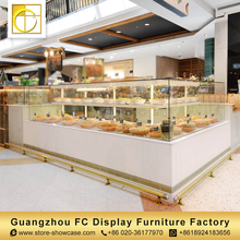 cake showcase glass commercial display cabinets bread bakery display cabinet for shopping mall