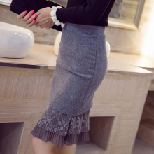 W11211 fall and winter 2015 new lace hip skirt women career formal pretty skirts