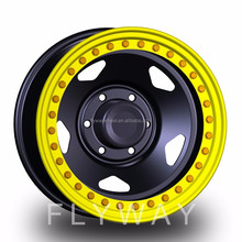 Flyway FX011 Size 15x12 Hot Sale 4x4 Offroad Beadlock Steel Wheel With Custom Offset Immitation Beadlock wheel Available
