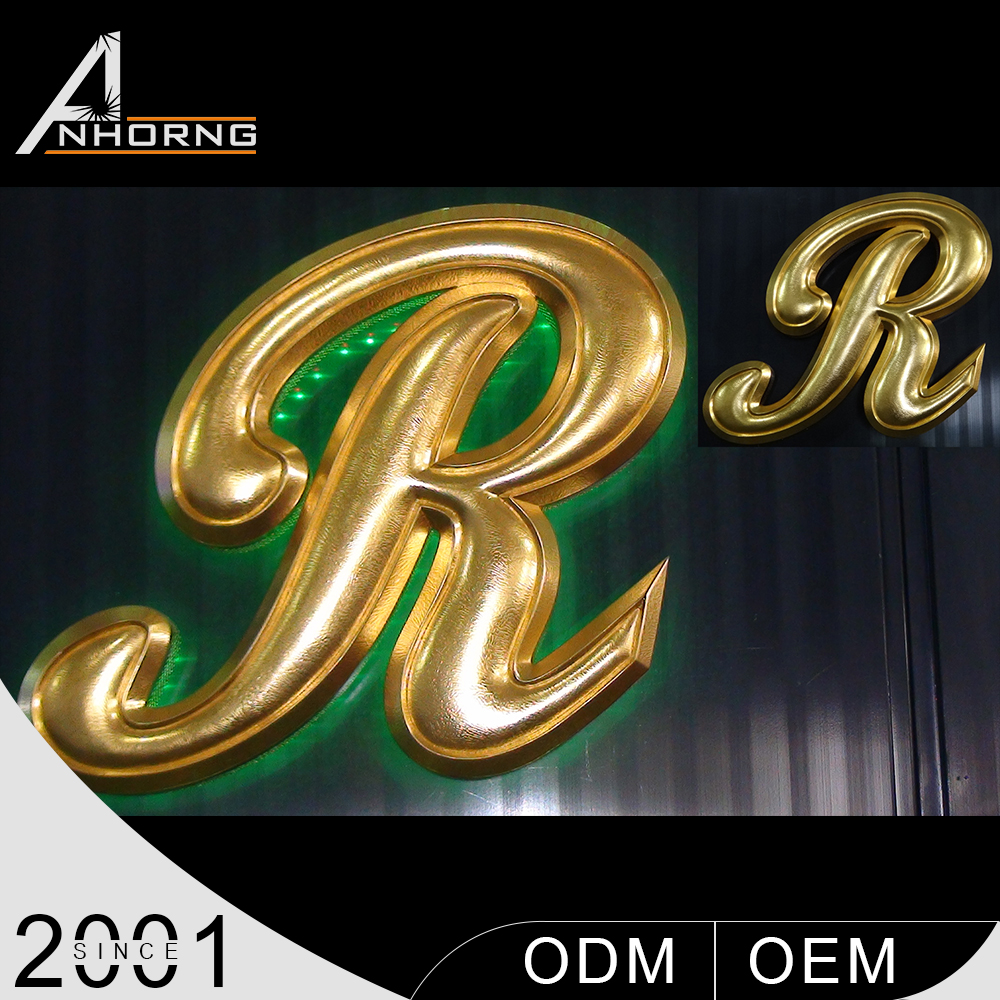 LED illuminated advertising big size led letter building signs