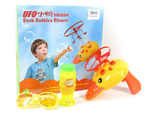 Flying Dish Bubble Gun Hand Held Bubble Toy for Kids