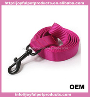 With 2 strip of reflective fabric design leash, to keep your dog safe at night