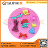 Princess Dress Series Shape Silicone Cake Decoration Mold