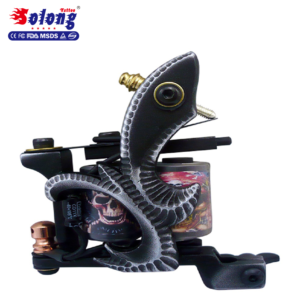 Solong Beauty Product with 2 Pro Coil Guns 14Ink power supply Needles high quality pefessional tattoo starter kit
