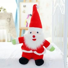2017 winter Santa Claus soft stuffed dolls best quality plush toys for Christmas decoration