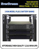 ON LINE DOUBLE CONVERSION RACK MOUNT UPS, OEM RACK MOUNT ON LINE UPS, RACK MOUNTED BACKUP TELECOM POWER SUPPLY
