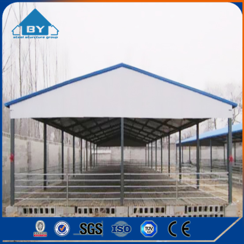China Metal Prefabricated Steel Frame Goat Farming House