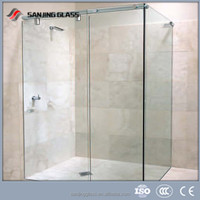 Bathtub shower screen,tempered glass,tempered glass shower wall panels