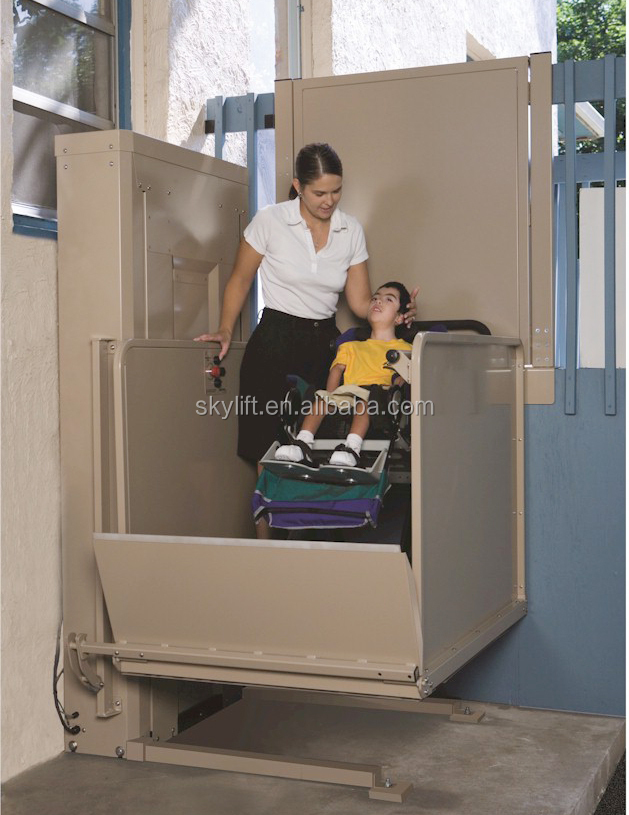 3.5m hydraulic handicapped wheelchair lift for home