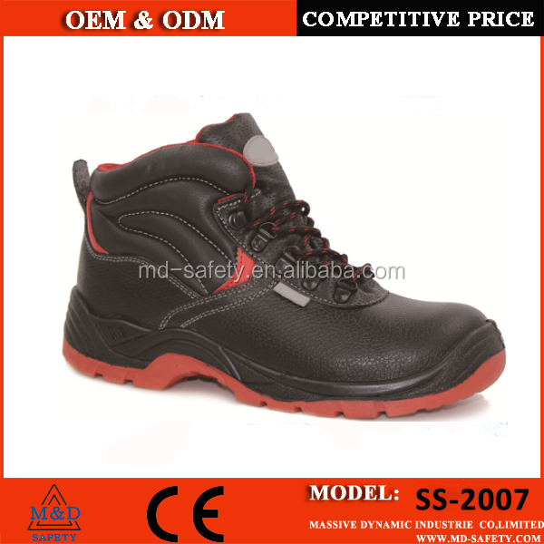 high heel steel toe safety shoes with comfortable inner certified by CE EN 20345
