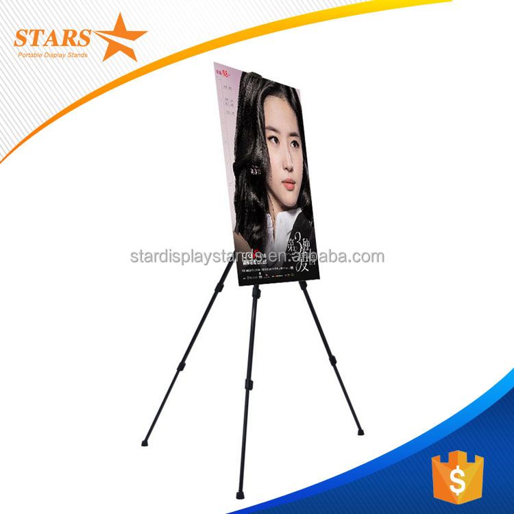 Cheap Price Tripod <strong>Poster</strong> <strong>Stand</strong> , Metal Tripod Easel