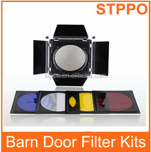 200mm With Honey Comb Barndoor Light Barn Door Filter Kits