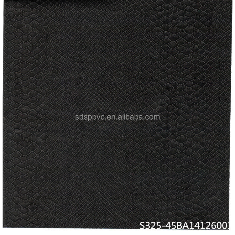 classic Crocodile grained leather/alligator PVC film
