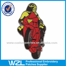 Motorcycle cool man patch labels Custom Biker embroidery patches designs