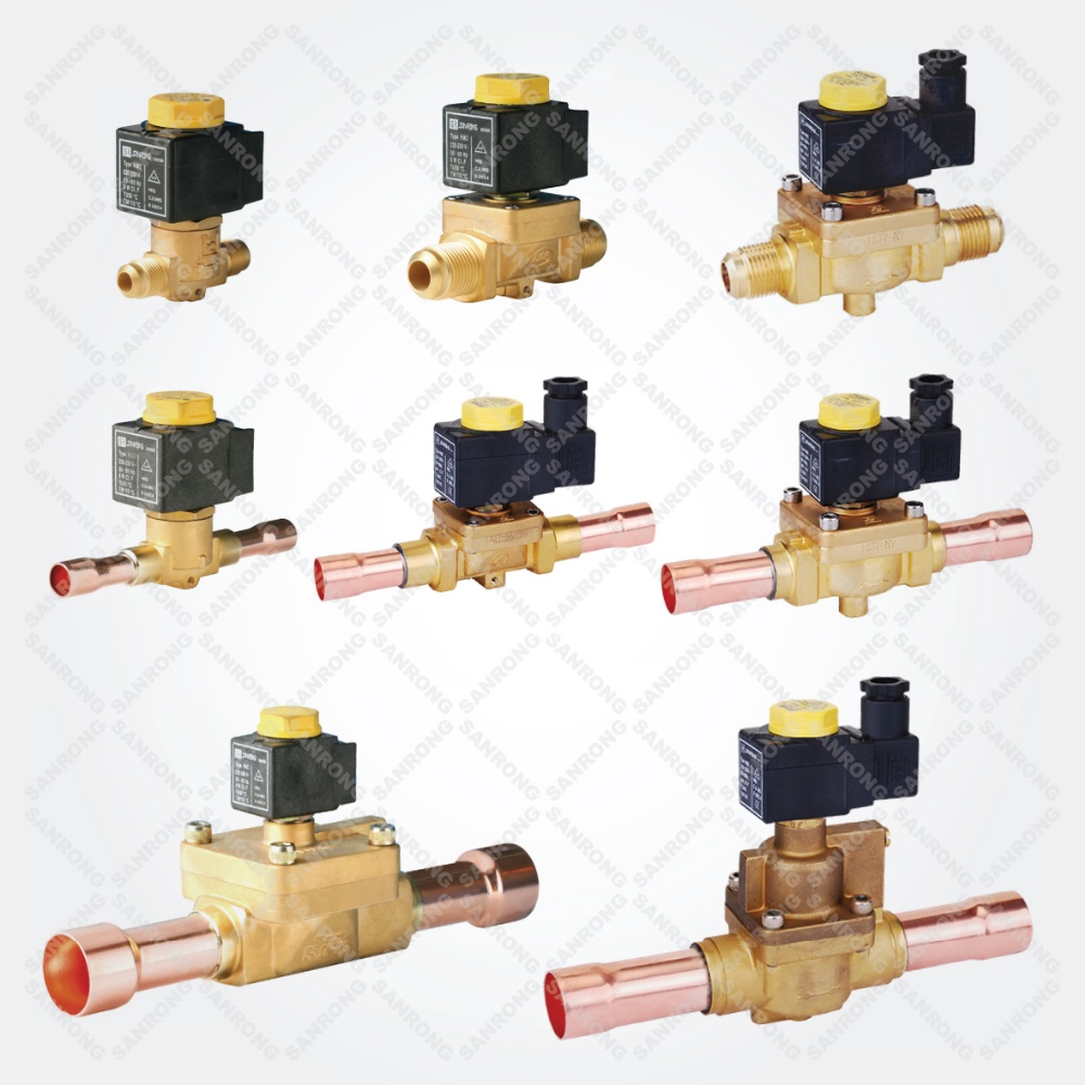 Best Air Conditioner 220VAC High Pressure Solenoid Valve, Castel Brass 220 volt Solenoid Valve for R410A Refrigeration