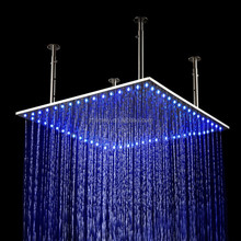 led shower 500mm ceiling hydro power led shower rainfall led shower